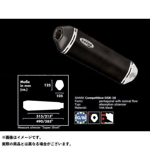 SHARK Z750 マフラー本体 KAWASAKI Z750(07-)/Z750R(11-) スリップオンサイレンサー DSX-10 ステンレスブラック シャーク