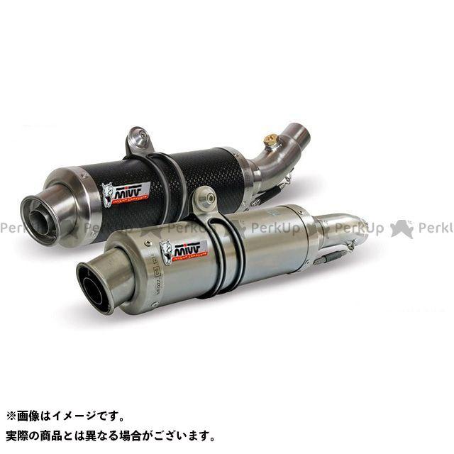 MIVV モンスターS4RSテスタストレッタ マフラー本体 スリップオンマフラー GP カーボン 2本出し DUCATI MONSTER S4RS (06-) ミヴ