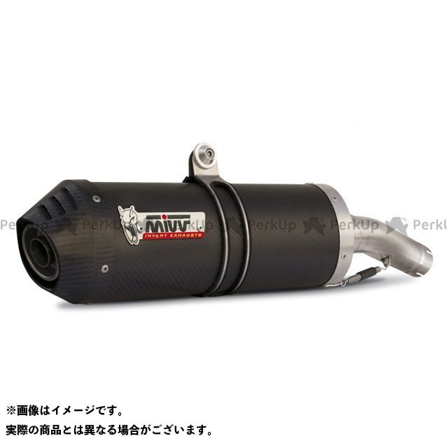 MIVV XT660R XT660X マフラー本体 スリップオンマフラー OVAL カーボン(カーボンエンドキャップ) 2本出し XT 660 XR (04-) ミヴ