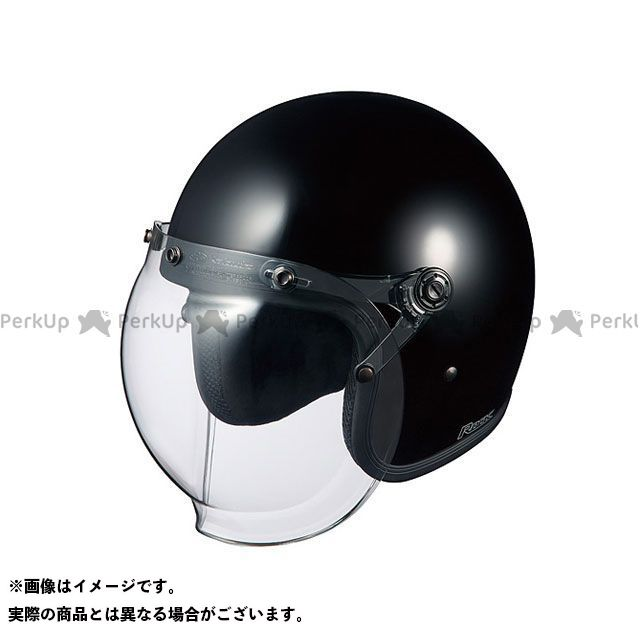 送料無料 OGK KABUTO オージーケーカブト ジェットヘルメット ROCK(ロック) ブラック