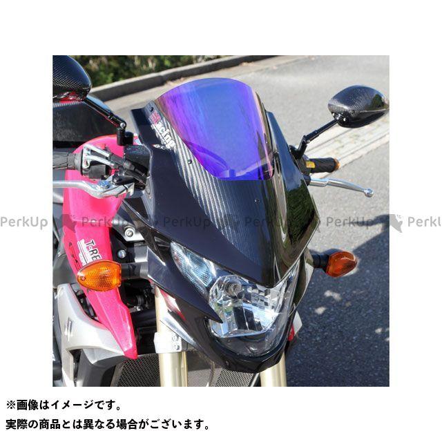 Magical Racing GSR750 スクリーン関連パーツ バイザースクリーン(FRP製・黒/一部カーボン製) 綾織りカーボン製 スモーク