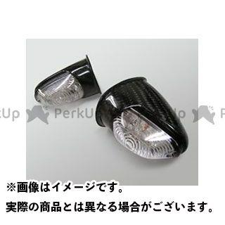 Magical Racing GSX1100Sカタナ ウインカー関連パーツ 16LEDアッパーカウル専用 カーボンウインカー(綾織りカーボン製)