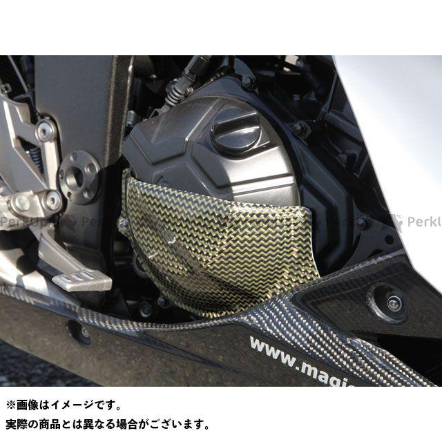 【エントリーで最大P21倍】Magical Racing ニンジャ250 Z250 エンジンカバー関連パーツ ジェネレーターカバー 左側 材質:綾織りカーボン製 マジカルレーシング