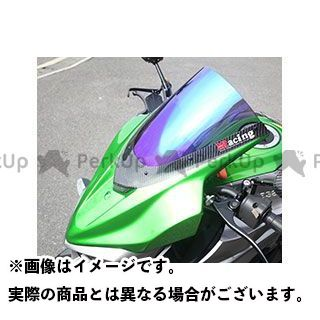 Magical Racing Z1000 スクリーン関連パーツ バイザースクリーン(FRP製・黒/一部カーボン製) 平織りカーボン製 スモーク