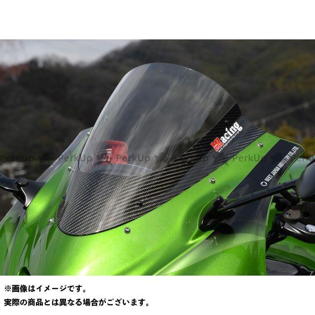 【エントリーでポイント10倍】 マジカルレーシング ニンジャZX-14R ZZR1400 スクリーン関連パーツ カーボントリムスクリーン 平織りカーボン製 クリア