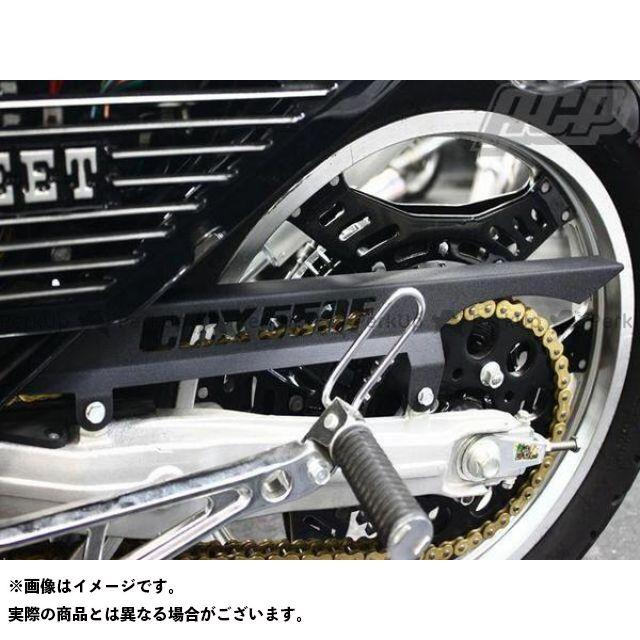 エーシーピー CBX550F チェーン関連パーツ CBX550F ロゴ入り チヂミ塗装 チェーンケース カラー:黒 ACP