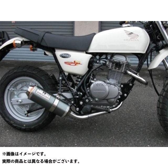 BURIAL エイプ100 マフラー本体 APE100 アルティメットマフラー カラー:レッド ベリアル