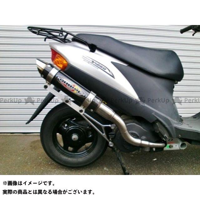 BURIAL アドレスV125 マフラー本体 GPバージョンマフラーSR アドレスV125 カラー:ブラックカーボン ベリアル