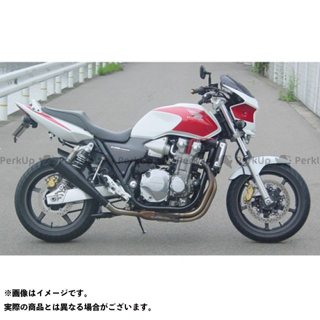 【エントリーで更にP5倍】SuperBike CB1300スーパーフォア(CB1300SF) マフラー本体 CB1300SF/SC54 S.P.L メガフォンスタイル スチール インナーパンチング:Regular スーパーバイク