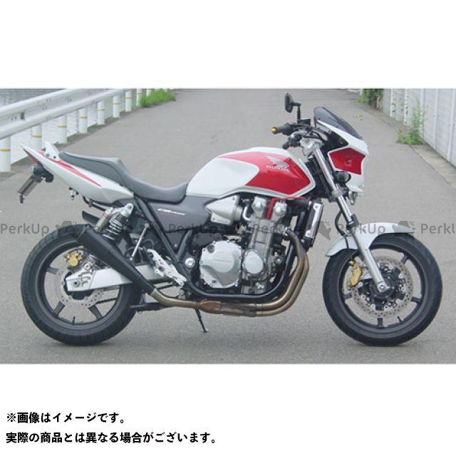 【エントリーで最大P23倍】SuperBike CB1300スーパーフォア(CB1300SF) マフラー本体 CB1300SF/SC54 S.P.L メガフォンスタイル スチール インナーパンチング:Danger スーパーバイク