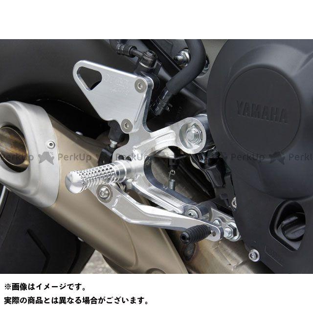 【無料雑誌付き】OVER RACING MT-09 トレーサー900・MT-09トレーサー XSR900 バックステップ関連パーツ バックステップ 4ポジション カラー:シルバー オーバーレーシング