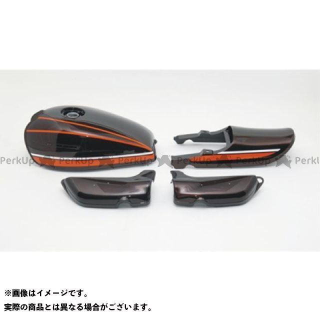 DOREMI COLLECTION Z1・900スーパー4 タンク関連パーツ エアープレーンタンク ペイント済みタンクセット 赤タイガー