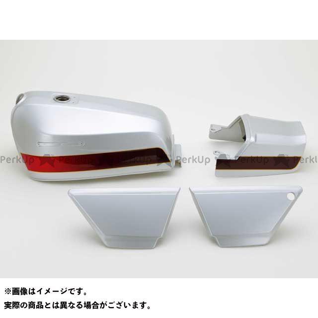 DOREMI COLLECTION ゼファー カイ タンク関連パーツ ZEPHYR400XFXタイプタンクセット カラー:E4シルバー 仕様:タックロール ドレミ