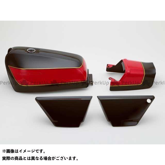 DOREMI COLLECTION ゼファー カイ タンク関連パーツ ZEPHYR400XFXタイプタンクセット カラー:E4エボニー 仕様:タックロール ドレミ