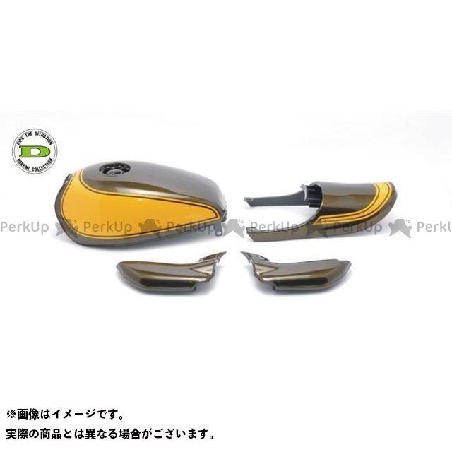 DOREMI COLLECTION ゼファー750 タンク関連パーツ Z2タイプスチールタンクセット カラー:イエローボールカラー ドレミ
