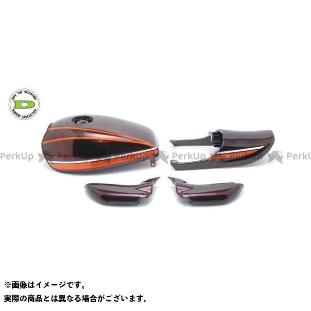 DOREMI COLLECTION ゼファー750 タンク関連パーツ Z2タイプスチールタンクセット カラー:赤タイガーカラー ドレミ