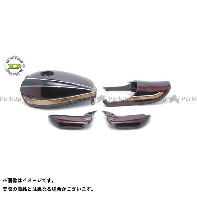 DOREMI COLLECTION ゼファー750 タンク関連パーツ Z2タイプスチールタンクセット カラー:茶玉虫カラー ドレミ