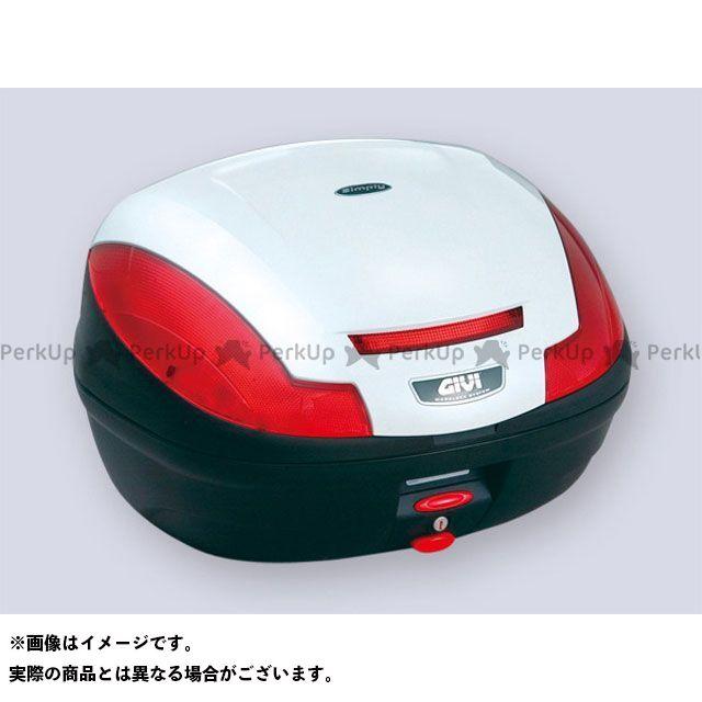GIVI Vストローム1000 汎用 ツーリング用ボックス モノロックケース SIMPLY3シリーズ(ストップランプ無し) タイプ:パールホワイト塗装 ジビ
