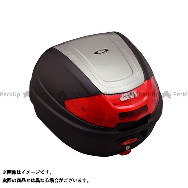 GIVI CB400スーパーフォア(CB400SF) 汎用 ツーリング用ボックス モノロックケース E300N2シリーズ(ストップランプ無し) タイプ:シルバー塗装 ジビ