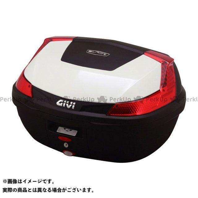 GIVI Vストローム1000 汎用 ツーリング用ボックス モノロックケース B47シリーズ(ストップランプ無し) タイプ:パールホワイト塗装 ジビ