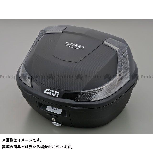 GIVI ツーリング用ボックス モノロックケース B37シリーズ(ストップランプ無し) タイプ:TECH 未塗装ブラック ジビ