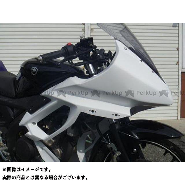 才谷屋ファクトリー YZF-R15 カウル・エアロ アッパーカウル/レース/白ゲル 仕様:クイックファスナーver 才谷屋