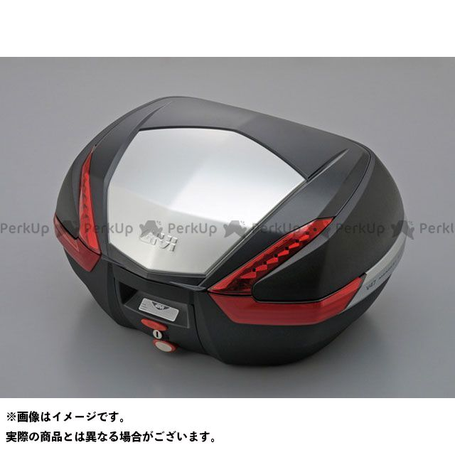 GIVI ツーリング用ボックス モノキーケース V47シリーズ(ストップランプ無し) パネル仕様:アルミパネル カラー:未塗装ブラック ジビ