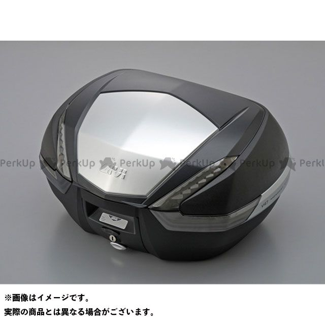 【エントリーで更にP5倍】GIVI ツーリング用ボックス モノキーケース V47シリーズ(ストップランプ無し) パネル仕様:アルミパネル カラー:TECH 未塗装ブラック ジビ
