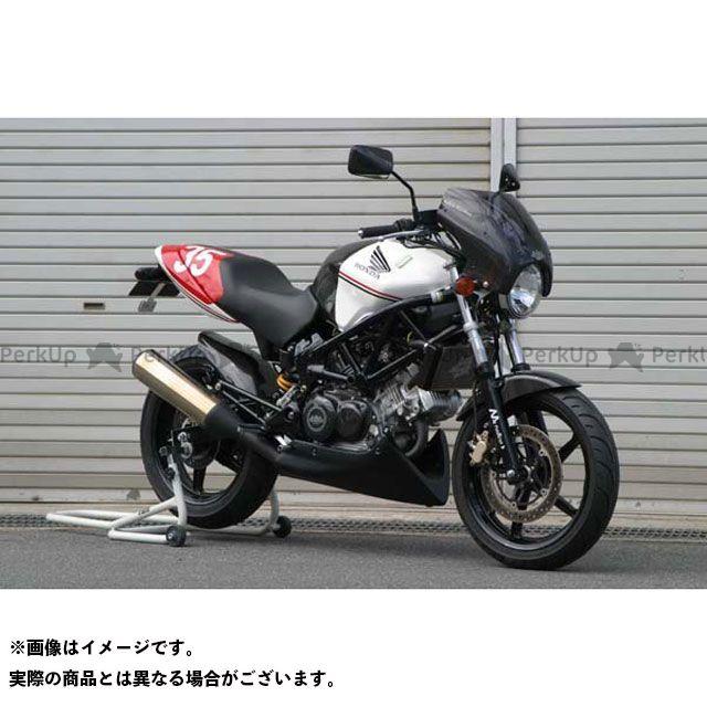 A-TECH VTR250 カウル・エアロ ビキニカウル スクリーン付き 綾織カーボン クリアー エーテック