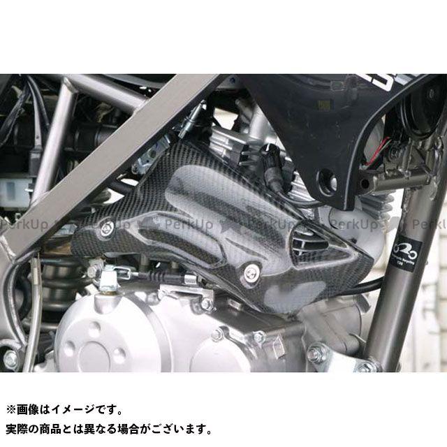 【無料雑誌付き】A-TECH Dトラッカー125 マフラーカバー・ヒートガード マフラーヒートガード 材質:カーボン エーテック