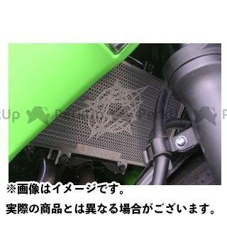送料無料 A-TECH ニンジャ400R ラジエター関連パーツ ステンレスコアガード