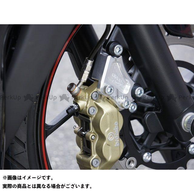 【無料雑誌付き】OVER RACING MT-25 YZF-R25 キャリパー フロントキャリパーサポート ブレンボ4P用 カラー:シルバー オーバーレーシング