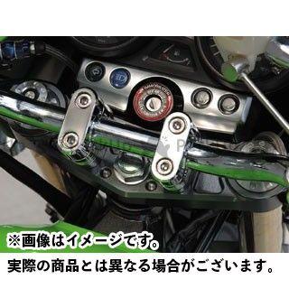 POSH Faith ZRX1200R ZRX1200S トップブリッジ関連パーツ マシンドトップブリッジ ブラック/シルバー ポッシュフェイス