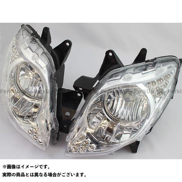【無料雑誌付き】RISE CORPORATION フォルツァX フォルツァZ ヘッドライト・バルブ フォルツァ(MF10)用 LEDポジションランプ付 リフレクターヘッドライト ライズコーポレーション