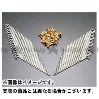 送料無料 PMC ピーエムシー ハブ・スポーク・シャフト メッキスポークセット リア用40PCセット ゴールド仕様