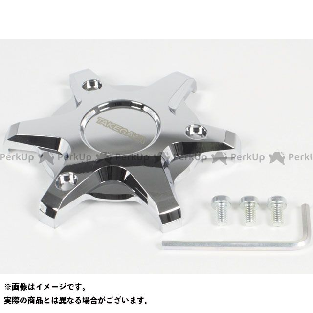 TAKEGAWA グロム エンジンカバー関連パーツ R.クランクケースカバープロテクター(クロムメッキ) SP武川