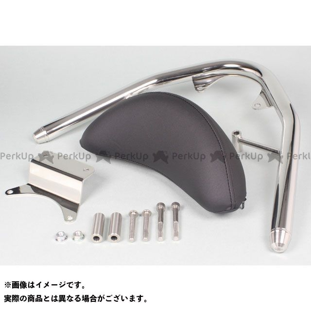 TAKEGAWA PCX125 PCX150 タンデム用品 ステンレス製グラブバー(タイプ2/バックレスト付き) SP武川