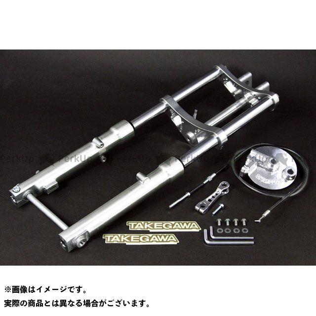 TAKEGAWA ゴリラ モンキー フロントフォーク φ27正立フロントフォークキット ドラムブレーキ 10インチ(SP武川12インチ)ホイール タイプ1/60mm(シルバー)  SP武川