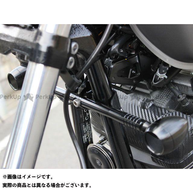 送料無料 KIJIMA ボルト 電装ステー・カバー類 フレームマウント フロントウインカーステー(ブラック)