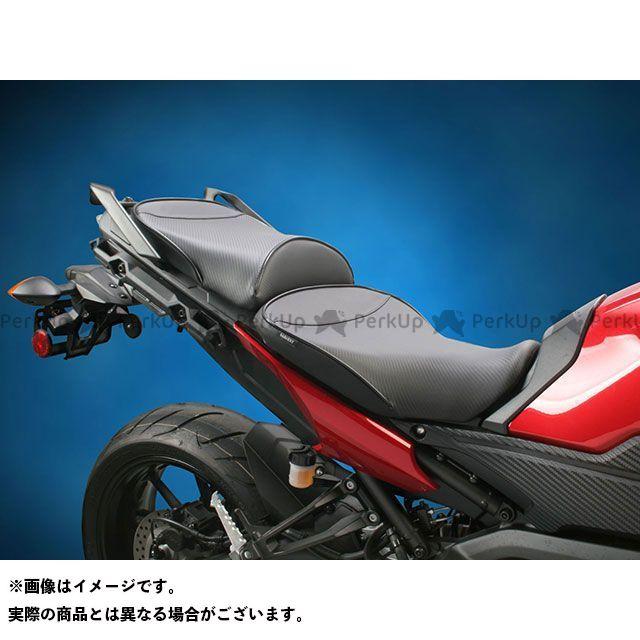 【エントリーで更にP5倍】Sargent トレーサー900・MT-09トレーサー シート関連パーツ ワールドスポーツ パフォーマンスシート(カーボンFX) 仕様:フロントのみ パイピング:A-049 Cocltail/Decal/Red サージェント
