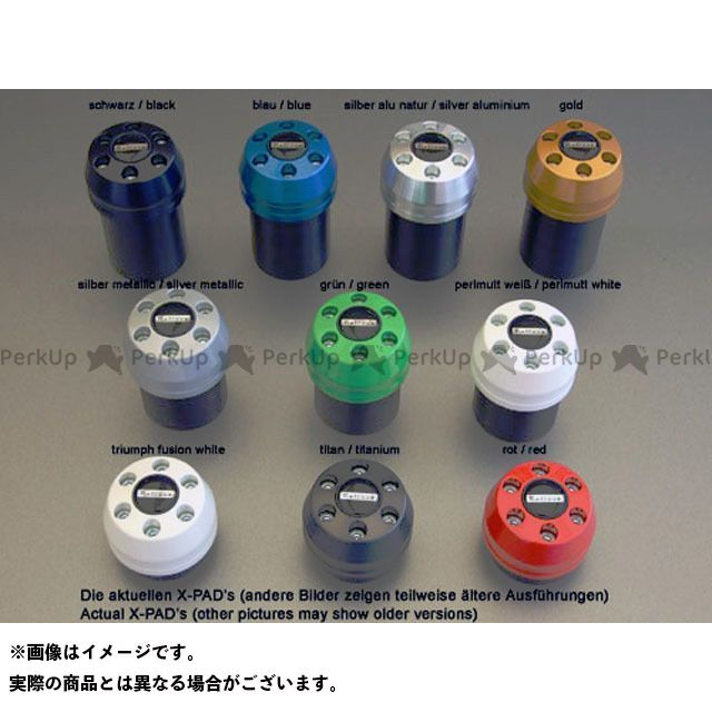 【無料雑誌付き】Peitzmeier Z1000 Z750 スライダー類 クラッシュパッド X-Pad カラー:ブルー パイツマイヤー