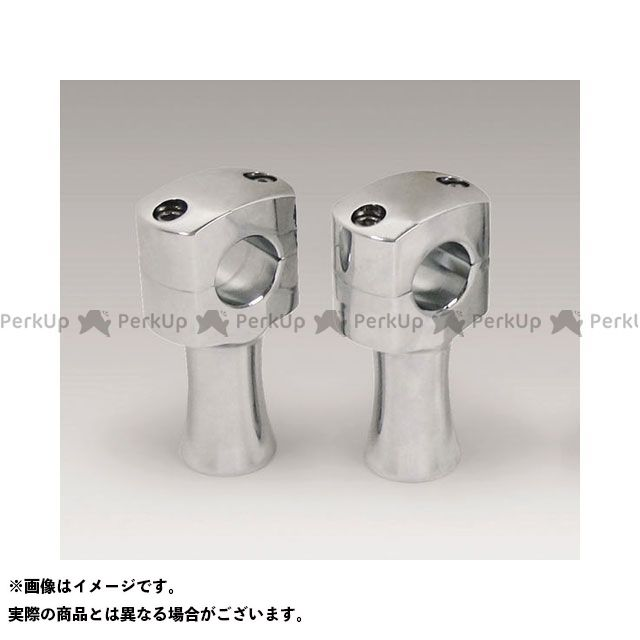 【無料雑誌付き】KIJIMA ハーレー汎用 ハンドルポスト関連パーツ ストレートライザー(スチールクローム) タイプ:76mm(3インチ) キジマ