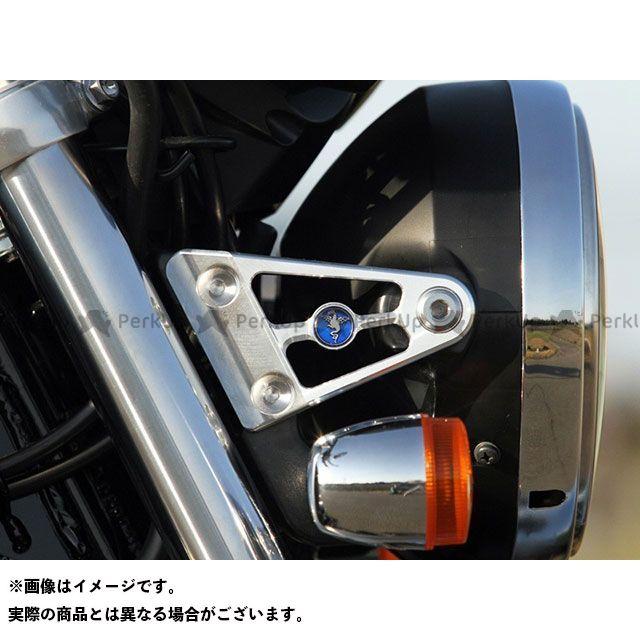 R's GEAR CB1100 CB1300スーパーフォア(CB1300SF) 電装ステー・カバー類 ヘッドライトステー ワイバンエンブレムタイプ(シルバー) 左右セット