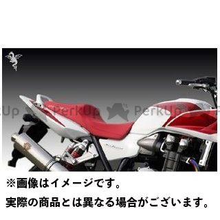 【エントリーで更にP5倍】R's GEAR CB1300スーパーボルドール CB1300スーパーフォア(CB1300SF) シート関連パーツ ワイバンコンフォートシート リアルレザー(表皮:黒/ステッチ:赤) アールズギア