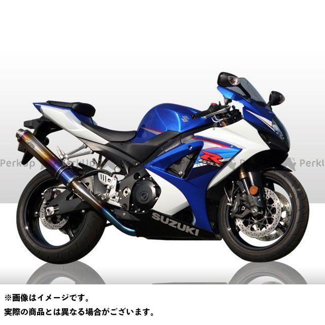 R's GEAR GSX-R1000 マフラー本体 GPスペック スリップオン シングル サイレンサー:チタンドラッグブルー アールズギア