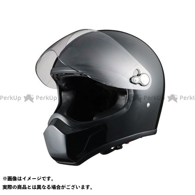 シレックス フルフェイスヘルメット ネオレトロヘルメット FUJIN カラー:パールブラック サイズ:L/58-60cm未満 Silex