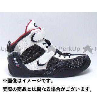 エルフシューズ ライディングシューズ EXA11(エクサ11) カラー:ホワイト/ブラック サイズ:25.5cm elf shoes