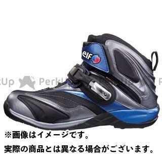 エルフシューズ ライディングシューズ Synthese14(シンテーゼ14) シルバー/ブルー 24.5cm elf shoes