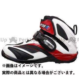 エルフシューズ ライディングシューズ Synthese14(シンテーゼ14) ホワイト/レッド 25.5cm elf shoes
