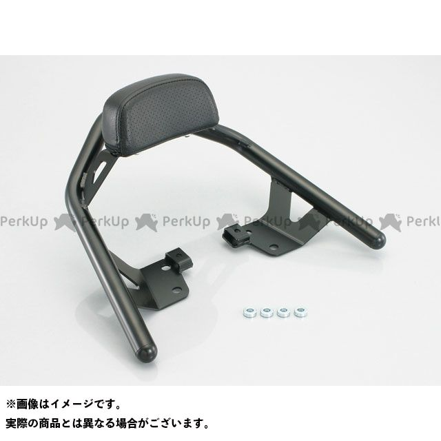 【エントリーで更にP5倍】KITACO GSR250 GSR400 タンデム用品 タンデムバックレスト&バー パッド幅:150mm キタコ